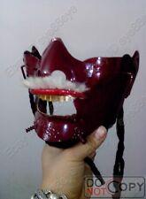 Cool!Japanese Samurai Mens Armour Armor Red Metal Mask