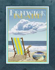 Fenwick Island, Chair (Framed) Art Deco Style Travel Poster -by Aurelio Grisanty