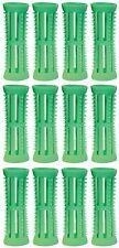Hair Setting Rollers & Plastic Pins For Curls GREEN 18mm diameter Pk 12 Skelox