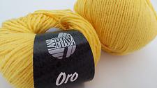 800 g Oro Lana Grossa Gelb Fb. 004  50 % Baumwolle  50 % Wolle