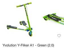 Yvolution Y Fliker A1 Kids Scooter, Green new and unused.  Open damaged box