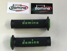 Universal Domino Black Green XM2 Motorcycle Race Grips Track Bike Streetfighter