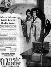 Madame Butterfly Geisha MUSIC MASTER RADIO REPRODUCER Japan Orient 1925 Print Ad