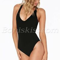 Women's One Piece Swimsuit Bandage Padded Bra Bikini Monokini Beachwear Swimwear