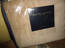 Vintage Ralph Lauren Great Barrington Tan Velvet (1) King Pillow Sham 20 X 36