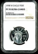 1998-W P$50 Proof Platinum American Eagle PF70 Ultra Cameo NGC 2678032-012