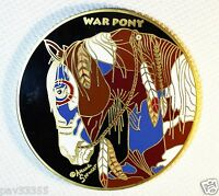 Indian War Pony - Satin Gold Finish - New Geocoin Unactivated