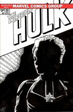 Incredible Hulk #181 Blank Variant with wistful Captain Marvel sketch