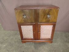 Vintage Silvertone Radio and Record Player Wood Cabinet #S140