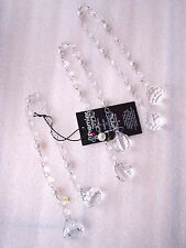 3 Vintage Cut Crystal Acrylic Diamond Droplet Christmas Tree Baubles Decorations