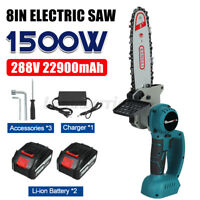 "8"" Cordless Electric Chainsaw Ever Battery-Powered Wood Cutter Rechargeable"