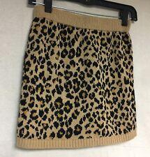 Nwt Cute Girls Size Large 10-12 Brown & Black Old Navy Animal Print Skirt