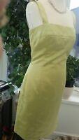 Tara Jarmon Green Satin Dress Lovely For an Occasion 38 - UK 8 - 10 'ROBE REVE'