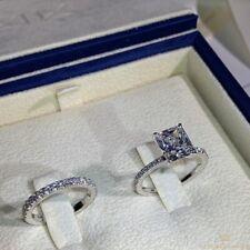 diamond zircon ring 2pcs/ set 5-11 Fashion couple ring gold plated Ring square