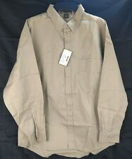 North End Sport Men's Button Down Collar Long Sleeve Shirt Khaki Tan Color New