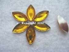 20 pedrería semipreciosas pedrería spitz oval oro 7 x 15mm no HotFix baseln