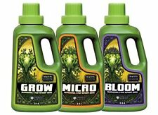 Emerald Harvest - Grow Micro Bloom 3-Part Base Nutrient Series 1qt of each