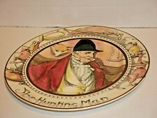 Royal Doulton The Hunting Man display plate with fox looking in window D6282
