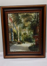 large ornate framed painting the palm house beckindale fine arts