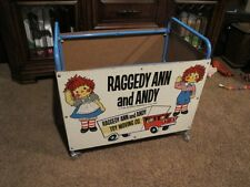VINTAGE RAGGEDY ANN AND ANDY TOY CART WITH WHEELS THE BOB MERRILL CO. 25X22X17""