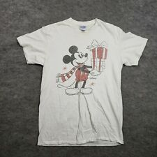 Junk Food Shirt Mens Small Mickey Mouse White Short Sleeve Retro Vintage Adult