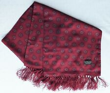 Vintage Tootal scarf with fringe Burgundy Paisley pattern Tebilized 1940s 1950s