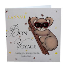 Bon Voyage Card Personalised Card Luxury Australia Koala Bear Crystals