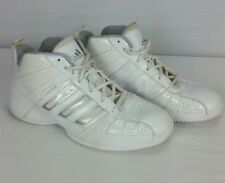 Adidas Team Color Womens Sz 8 White Basketball Sport Shoes Sneakers Style G21822