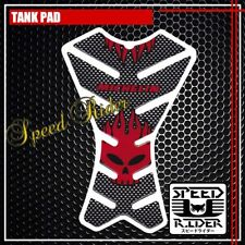 TANK PAD PROTECTOR STICKER DECAL TP005 CARBON RED SKULL MICHELIN WILSON FIRE