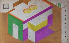Tschechische Avantgarde Konstruktivismus Herbert Bayer Bauhaus 1940 handsigniert