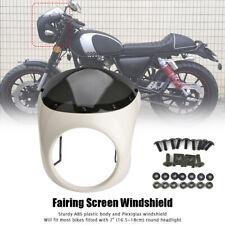 "Universal 7""Motorcycle Headlight Retro Cafe Racer Fairing Smoke Windshield Cover"