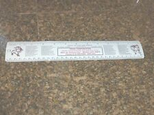 1967 DODGERS HOME GAME SCHEDULE METAL RULER HOOD CORPORATION WHITTIER, CA