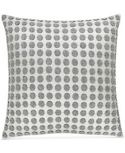 """Hotel Collection Colonnade Dusk Wool Cotton Dotted 18"""" Decorative Pillow - Gray"""