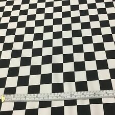 1mt CRAFT Cotton Indy Check Black/White  for QUILTING & CRAFTS GARMENTS