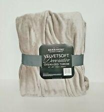 "VelvetSoft Decorative Oversized 60"" x 80"" Natural Throw by Berkshire Blanket"