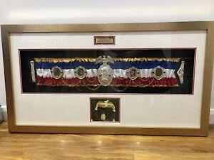 AUTHENTIC Mike Tyson Commemorative Ring Magazine Championship Belt-WBA,WBC, IBF