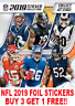 "PANINI NFL 2019 FOIL STICKERS ""BUY 3 GET 1 FREE"" BADGES & STAR PLAYERS"