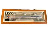 Vintage Tyco HO Scale Triple Dome Tank Car Gulf No. 357B Silver Oil Tanker
