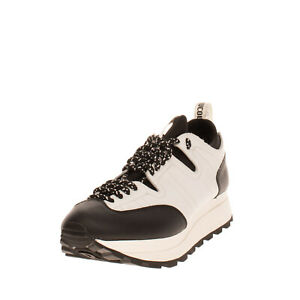 RRP €250 RUCOLINE Sneakers Size 40 UK 7 US 10 Contrast Leather Two Tone Logo