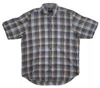 Bugatchi Uomo Mens Short Sleeve Button Up Shirt Size Large