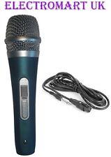 Hand Held Mic Micrófono Vocal Karaoke Dj sensación de goma suave al tacto Xlr Jack Azul