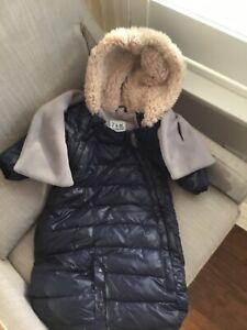7AM Enfant Doudoune Infant Snowsuit Bunting 0-3 in Midnight Blue