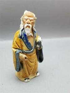 ANTIQUE QING DYNASTY CHINESE SHIWAN CLAY MUDMAN FIGURE 1890-1919