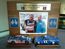 Richard Petty Wood Plaque Ned & Dale Jarrett Autographed Photo #88 #11 1965 Ford