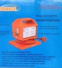 MASTA SAFE 4-WAY 10A RCD / MCB POWER OUTLET / SAFETY BOX / PORTABLE POWER BOARD