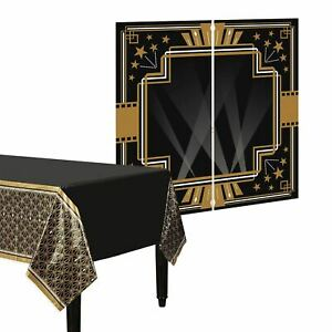 20s Hollywood Gatsby Plastic Table Cloth and Wall Decoration Photo Scene Setter