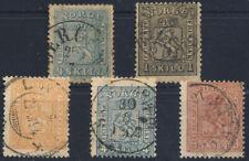 Norwegen,Norge,1863-7,Freimarken,Lot