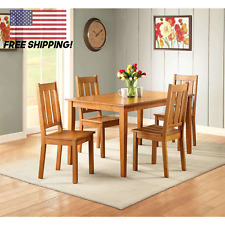 Farmhouse Dining Room Table Set Wooden Kitchen Table - Free Shipping