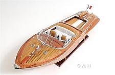"Riva Aquarama Wooden Model Boat 27"" Length"