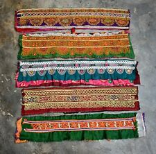 Vintage Huge Rabari Banjara Collectible Kuch Kuchi Heavy Embroidery Trims 5X Lot